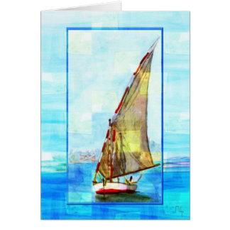 Felouca on the nile card