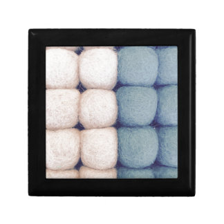 Felt ball texture light blue knows SIRAdesign Keepsake Box