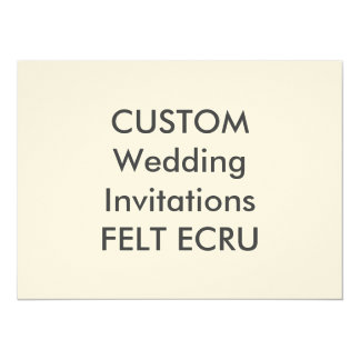 "FELT ECRU 110lb 7.5"" x 5.5"" Wedding Invitations"