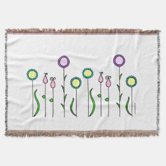 Felt flower discount/Flowerbed Blanket Throw Blanket