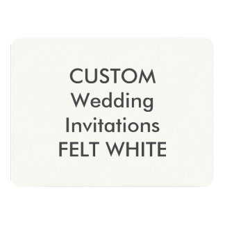 "FELT WHITE 110lb 7.5"" x 5.5"" Wedding Invitations"