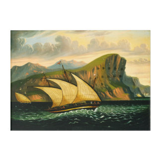 Felucca off Gibraltar by Thomas Chambers Acrylic Print