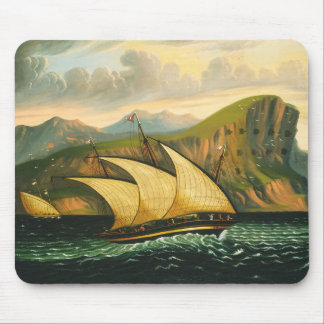 Felucca off Gibraltar by Thomas Chambers Mouse Pad