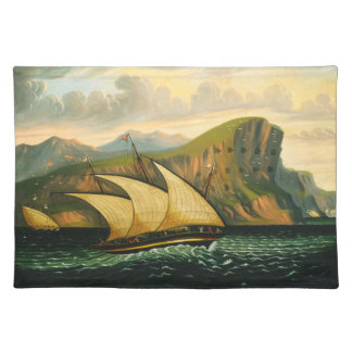 Felucca off Gibraltar by Thomas Chambers Placemat