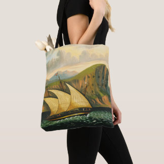 Felucca off Gibraltar by Thomas Chambers Tote Bag