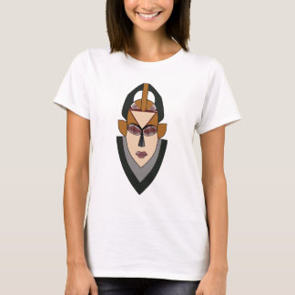 Female African Warrior Mask T-Shirt