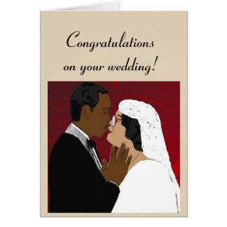 Female and male wedding card