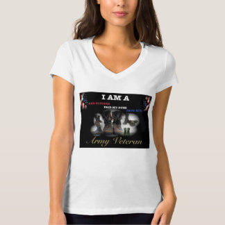 FEMALE ARMY VETERAN and ARMY RETIREE T-SHIRTS