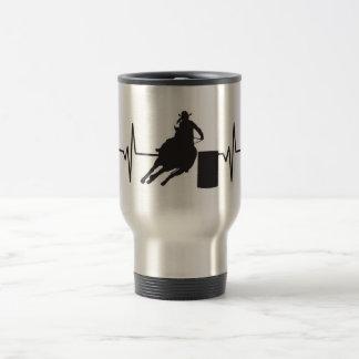 Female Barrel Racer - Heartbeat Pulse Graphic Travel Mug