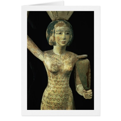 Female bearer of offerings carrying a water vase i greeting cards
