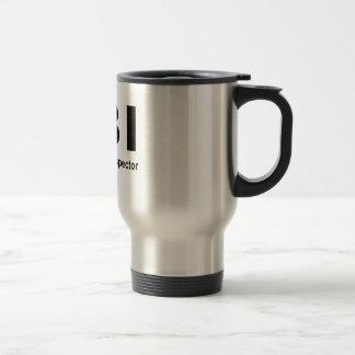 Female Body Inspector 15 Oz Stainless Steel Travel Mug