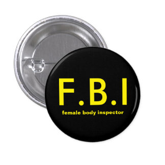 Female body Inspector 1 Inch Round Button