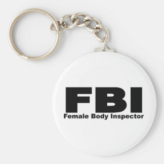Female Body Inspector Basic Round Button Keychain