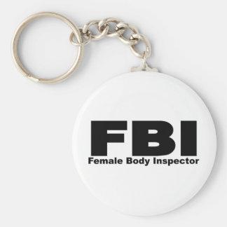 Female Body Inspector Basic Round Button Keychain