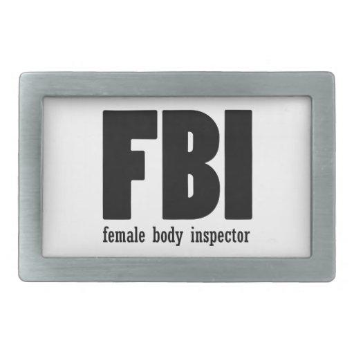 Female Body inspector Belt Buckle