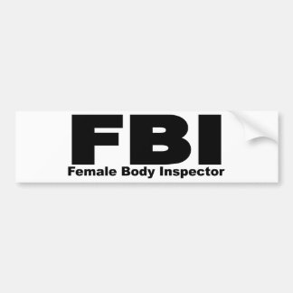 Female Body Inspector Bumper Stickers