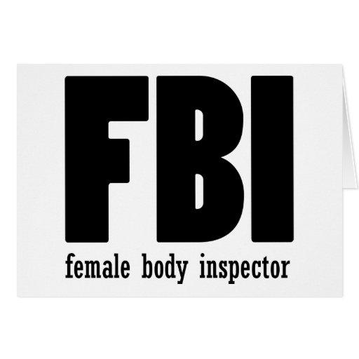 Female Body inspector Greeting Card