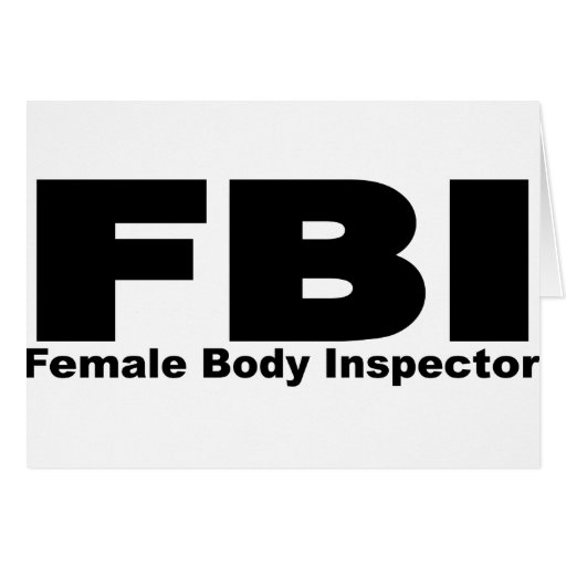 Female Body Inspector Greeting Cards