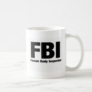 Female Body Inspector Classic White Coffee Mug