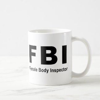 Female Body Inspector Coffee Mug
