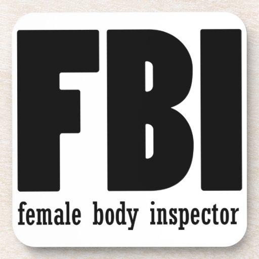 Female Body inspector Beverage Coaster