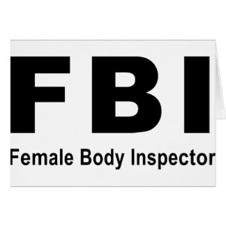 Female Body Inspector Greeting Card