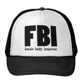 Female Body inspector Trucker Hats