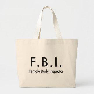 Female Body Inspector Jumbo Tote Bag