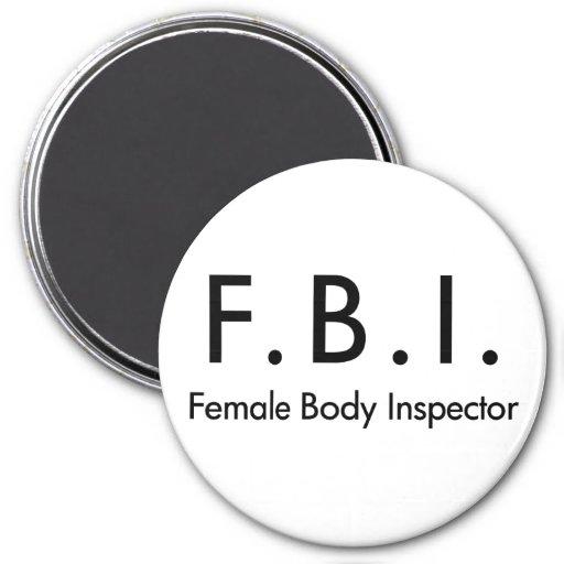 Female Body Inspector Refrigerator Magnet