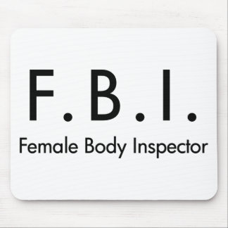 Female Body Inspector Mouse Pad