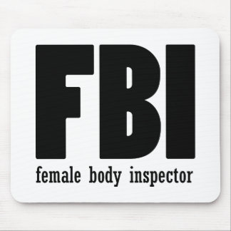 Female Body inspector Mouse Pads