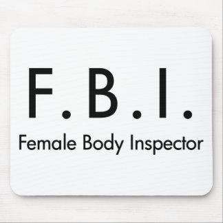 Female Body Inspector Mousepads
