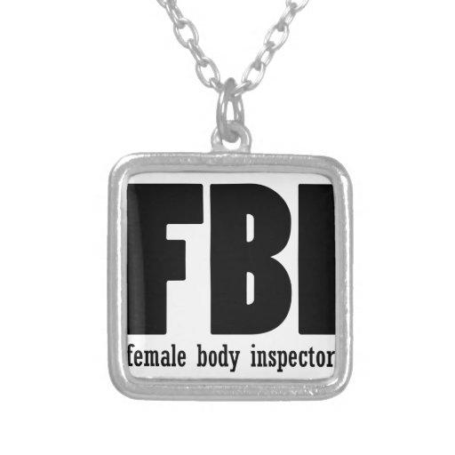 Female Body inspector Custom Necklace