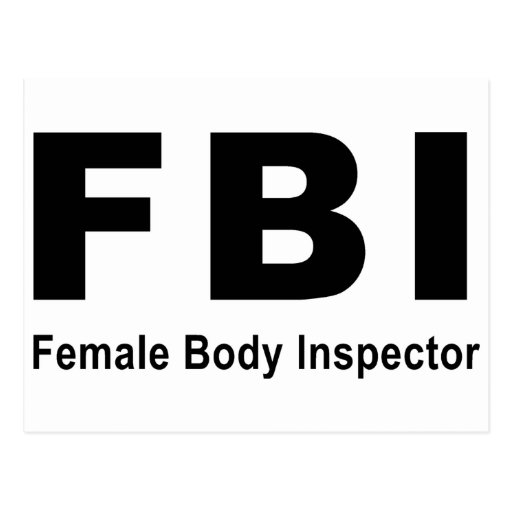 Female Body Inspector Postcards