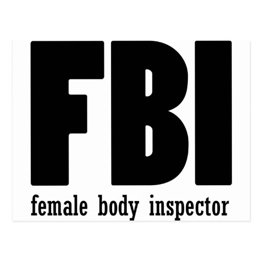 Female Body inspector Post Cards