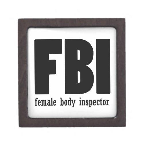 Female Body inspector Premium Keepsake Box