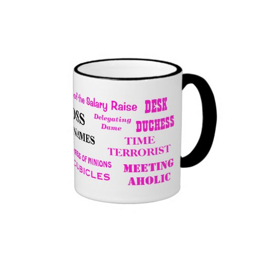 Female Boss Nicknames Funny Insults and Job Titles Coffee Mugs