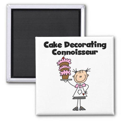 Female Cake Decorating Connoisseur Fridge Magnets