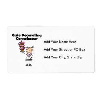 Female Cake Decorating Connoisseur Shipping Label