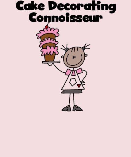 Female cake decorating connoisseur tshirts zazzle for T shirt cake decoration