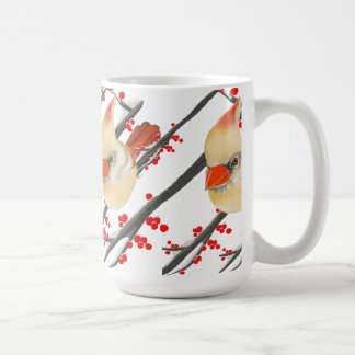 Female Cardinal Christmas Coffee Mug