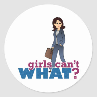 Female CEO Classic Round Sticker