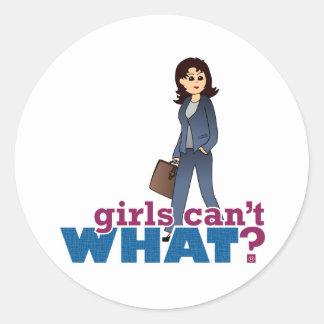 Female CEO Round Sticker