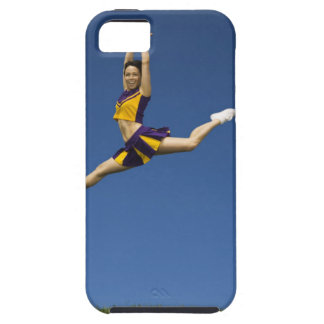 Female cheerleader leaping in air iPhone 5 cases
