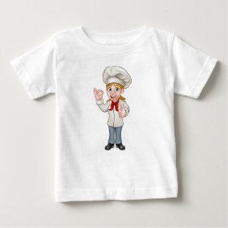 Female Chef Cartoon Character Baby T-Shirt