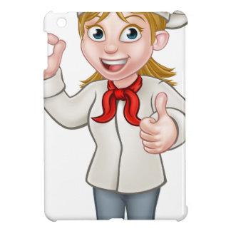 Female Chef Cartoon Character iPad Mini Case