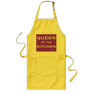 Female Chef Cook Funny Name Queen of Kitchen Long Apron