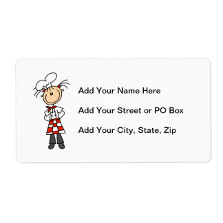 Female Chef Shipping Label