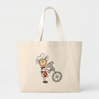 Female Chef with Mixer Tshirts and Gifts Large Tote Bag