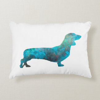 Female Dachshund in watercolor Accent Pillow